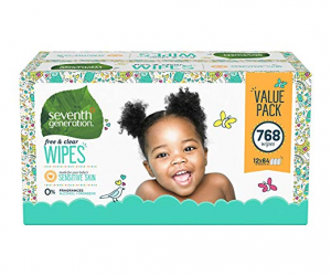 Seventh Generation Baby Wipes 768 count: $16.48 (was$29.99)