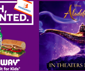 Aladdin Movie Ticket Deal
