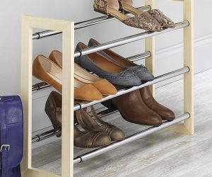 Whitmor 3 Tier Expandable Shoe Rack: $12.99 (was $19.49)