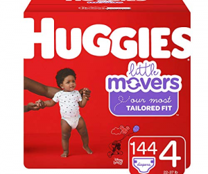 HUGGIES Little Movers Diapers, Size 4 (22-37 lb.), 144 Ct: $30.98 (was$46.70)