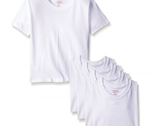 Hanes Boys' Toddler 5-Pack Crew, White: $5.00 (was$7.89)