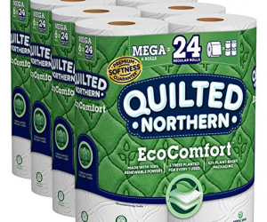 Quilted Northern EcoComfort Toilet Paper, 24 Mega Rolls: $11.82 (was $16.26)