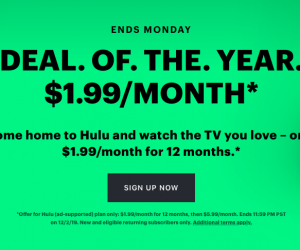 HULU Black Friday Deal