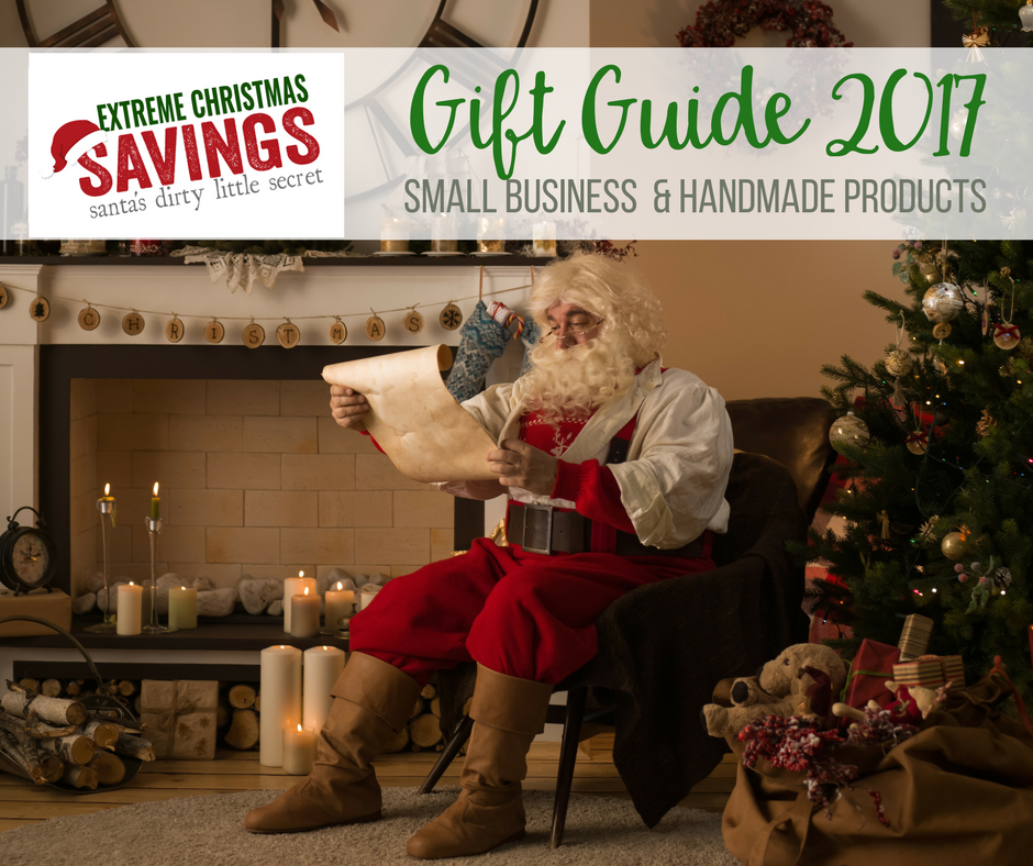 Gift Guide 2017 - Small Business and Handmade - Extreme Christmas Savings